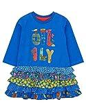 Oilily Blaues Jersey Kleid für Mädchen YF18GDR085