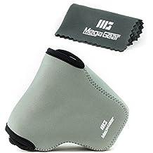 MegaGear '' Ultra-Light '' funda de cámara de neopreno, bolsa - funda protectora para Fujifilm X-A10, X-A3, X-A2, X-A1, X-M1 (16-50 Lente) - con mosquetón para llevar fácil (Gris)