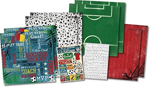 Unbekannt Karen Foster Scrapbook-Set 12-x-12-Inch Soccer Champ -