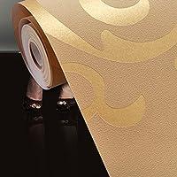 ODJOY-FAN Im europäischen Stil Eukalyptus-Vliestapete 1x 10M Luxus Silber 3D Damast geprägte Tapeten Rolls Home Art Decor-3D Decor wandaufkleber wandtattoo wandsticker Baum Selbstklebende