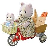 Sylvanian Families 4281 Fahrradfahren mit Mutter, Püppchen, bunt