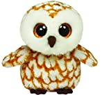 Ty - Swoops, peluche búho, 15 cm, color marrón (36095TY)