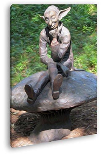 lustige Koboldstatur Effekt: Zeichnung Format: 100x70 als Leinwandbild, Motiv fertig gerahmt auf...