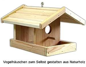 h ngendes vogelh uschen aus naturholz zum selbst gestalten 22x 22 5x 17cm bemalbare. Black Bedroom Furniture Sets. Home Design Ideas