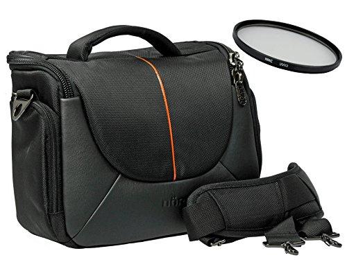 Foto Kamera Tasche YUMA L Set mit UV Filter 55mm für Sony Alpha 7 R II B mit Objektiv SEL 28-70mm KB