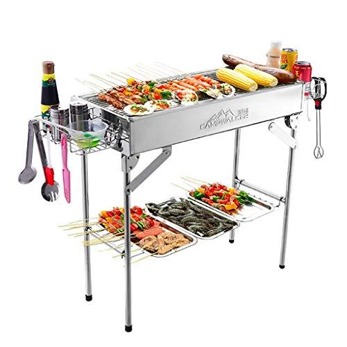 Barbecue Home Holzkohle für mehr als 5 Personen Carbon BBQ Outdoor Edelstahl Barbecue Regal in der Wildnis 72 * 32 * 70Cm,72 * 32 * 70cm -