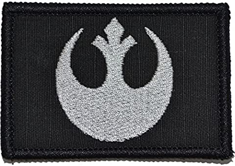 Tactical Gear Junkie Rebel Alliance Emblem Star Wars 2x3 Military Patch / Morale Black With Silver
