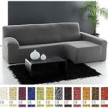 Funda de Sofá Chaise Longue Elástica Modelo Domis, Color ROJO (C/08), con Brazo IZQUIERDO (Mirándolo de frente)