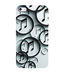 Ifasho Modern Art Design Pattern Music Symbol Back Case Cover For Apple Iphone 4