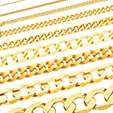 Massive edle Goldkette Panzerkette Halskette Collier Echt 585 Gold (55, 3.4mm)