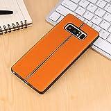 HHF hot selling Cases & Covers Pour Samsung Galaxy Note 8 étui de protection de surface en cuir lisse de surface de protection ( Color : Orange )