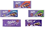 Milka - Assorted Chocolates Variety Pack of 5 bars (5 x...