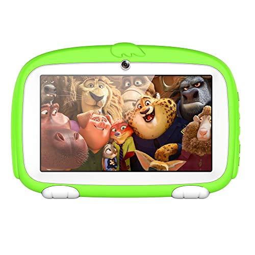SO-buts Android 6.0 Touch Kids Tablet,7-Zoll Quad-Core Tablet,Maximaler erweiterter Speicher 32 GB,HD-Display Dual-Kamera WiFi Bluetooth Geeignet für Kinder, (Grün)