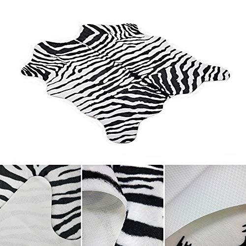 Umiwe Alfombra Zebra 5.2 x 4.6 pies 160 x 140 cm Alfombra
