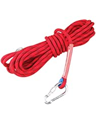 Ma-on Sports de plein air alpinisme utilitaire Corde d'escalade Rouge 15 KN (12 mm)