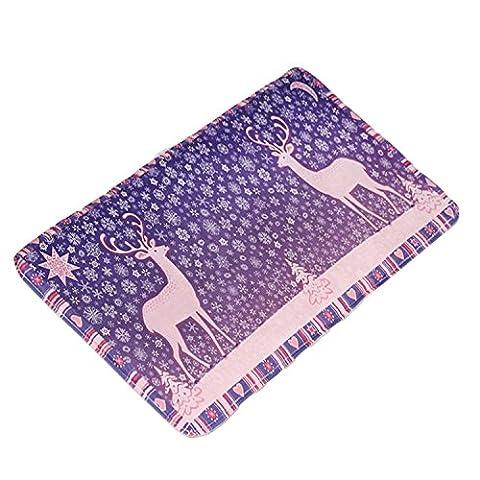 Gosear Mode Absorbierenden Flanell Anti Slip Boden Mat Fußmatte Startseite Badezimmer WC Leben Zimmer Sicherheits-Fußboden Teppich Pad 50 x 80 cm (19,7 x 31,5 inch) B