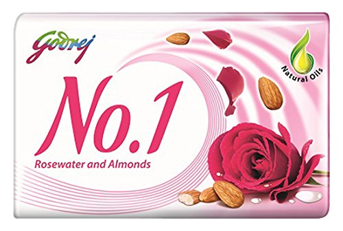 Godrej No.1 Rose Water and Almonds Soap, 100g (Buy 3 Get 2 Free)