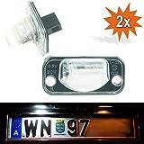 Do.LED d18LED matrícula para Volkswagen Transporter T4Bus Buzón pritsche 1990–2003TÜV libre Matrícula Lámpara para matrícula lámpara de matrícula con certificado E xenón