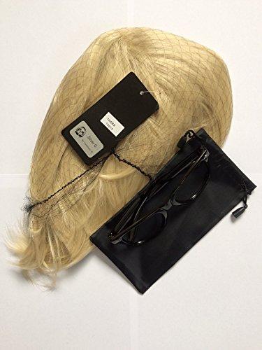 und Brille Nirvana Kostüm Grunge kurz Blond Fell Perücke hochwertigem Haar Stück und Brillen UV 400riecht wie Teen Spirit schwarz wayleavers tragen Curt Kobain Outfit Fancy Kleid (Cobain Kurt Kostüme)