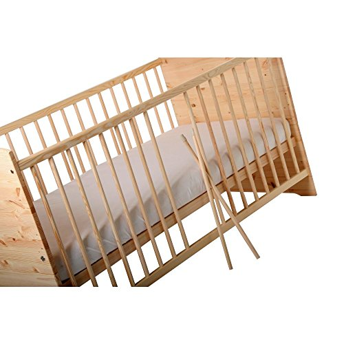 Kinderbett Jugendbett Kuba VOLLMASSIV 140x70 cm - 3