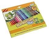 Jolly Lot de 24 feutres à Pointe Fine Superstar Duo Différents Coloris Disponibles dans Un étui en Carton