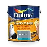 Dulux Easycare Washable & Tough Matt 2,5 L - Pinturas de pared para interior (Pintura, Preparado, Techo, Pared, Azul, Mate, 2,5 L)