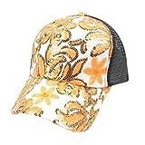 Fathoit-Dream Girl YC Unisex Baseball-Cap Baseball-Cap Florales Diamant-Schleife für Frauen Hip-Hop, Uni, Orange, 1.0x1.0x1.0cm