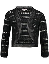 382eee495d0029 Anna Field Strick Bolero Damen Schwarz oder Weiß – Strickjacke kurz aus 50%  Baumwolle – Häkelweste Hippie Style – Langarm Häkelbolero…