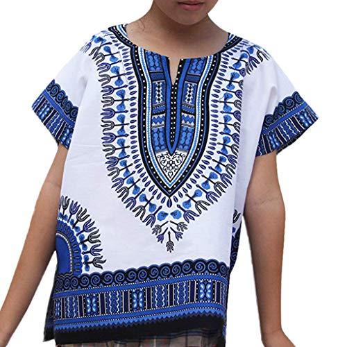 Berimaterry 2Y-7Y niños y niñas Camiseta de Estilo étnico de Estilo