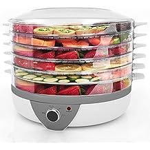 Meykey Essiccatore di frutta e verdura,Disidratatore Temperatura regolabile,5 Piani,500 W,Argento