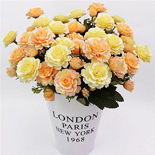ZZH Gefälschte Blumen Bunte Emulational Blumen Blumendekor Festival Ornament Geschenk 8 Köpfe Romantisch