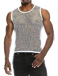 Netz Hemd,Transwen Mode Männer Sommer lässig Muscle Shirt Casual mit Kurzen  Ärmeln Mesh Fit 1db430cdd9
