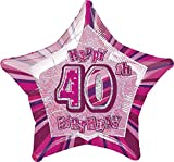 Unique Party Supplies 50,8 cm Glitz Folie Happy Birthday Helium Ballon