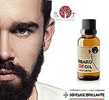 Huile à barbe 3 en 1 - Huile, sérum et accélérateur de pousse, 15 ml avec Huile...