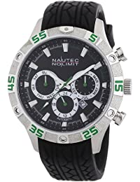 Nautec No Limit Herren-Armbanduhr XL Dragster Analog Automatik Kautschuk DG AT/RBSTBKBK-GR