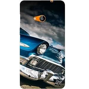Casotec Vintage Car Pattern Design Hard Back Case Cover for Microsoft Lumia 535