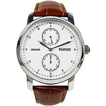 PARNIS 4250367313466 - Reloj para hombres, correa de cuero color marrón