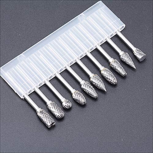HAIHANG 10 stücke hartmetallbohrerfutter-Bits für Metall grat wolframbohrer CNC fräser dremel zubehör Mini Kegel Set