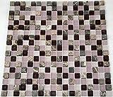 Restposten Fliesen Mosaik Mosaikfliesen Glas Stein Mix matt lila 8mm Neu #HO23