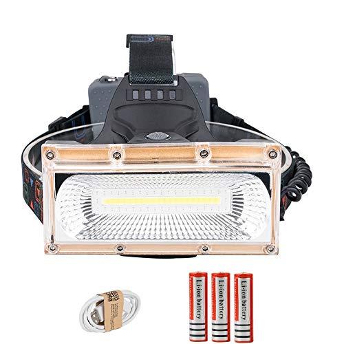 Stirnlampe, Stirnlampe, wiederaufladbare Stirnlampen, Power LED Stirnlampe, USB wiederaufladbare Stirnlampe, 3 Modi, 18650 Akku, wasserdicht, Jagd, Angelbeleuchtung