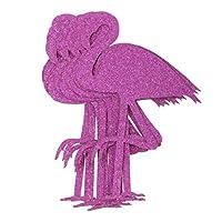 B Baosity Glitter Purple Flamingo Sticker for Scrapbooking, Calendars, Arts, Kids DIY Crafts, Album, Journals 12 Pack