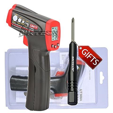 Nktech Uni-T Ut300a infrarouge IR Thermomètre Température Mètre -18& # X2103; au 280& # X2103; ou 0& # X2109; au 536& # X2109; Gun sans contact Mesure Mètre avec Tl-1Tournevis