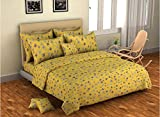 Bombay Dyeing Element 120 TC Polycotton Double Bedsheet with 2 Pillow Covers (Yellow)