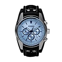 Fossil Men's Quartz Watch, Analog Display and Leather Strap CH2564