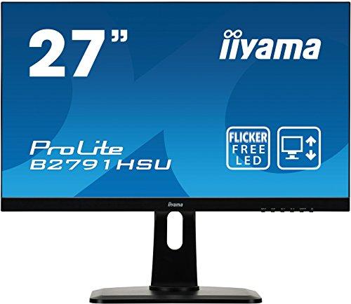 Iiyama iiyama ProLite B2791HSU-B1 68,6cm (27 Zoll) LED-Monitor Full-HD (VGA, HDMI, DisplayPort, USB2.0, Höhenverstellung, Pivot) schwarz