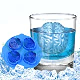 Stampo Cervello 3D stampino forma cubetto cubetti ghiaccio freddo ice brain