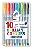 Enlarge toy image: Staedtler 334 Triplus Fineliner Superfine Point Pens, 0.3 mm, Assorted Colours, Pack of 10 -  preschool activity for young kids