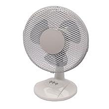 Q Connect 230mm/9 inch 2 Speed Desktop Fan