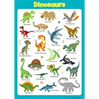 Learn Dinosaurs Wall Chart Educational Toddlers Kids Childs Poster Art Print WallChart