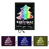 Message Lumineux LED, M.way 2 en 1 Tablette Lumineuse Écriture Peinture Dessiner Coloré Multi Couleur Copie Tracing Light Box avec Support pour Noël Mariage Bar Cafeteria Restaurant etc. 13,6 pouces
